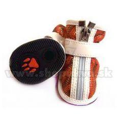Pantofi pentru câine, velur – portocaliu (4 buc), mărimea 3