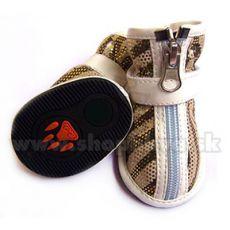 Pantofi câine, velur – maro deschis(4buc), mărimea 3