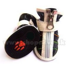 Pantofi câini cu închidere cu fermoar, negru (4 buc) – mărime 3
