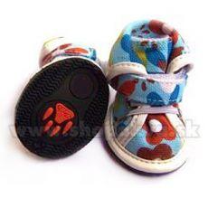 Pantofi pentru câine din pânză arabică - albastru (4 bucăți) - mărimea 4