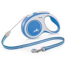 Flexi NEW COMFORT lesă S până la 12kg, 8m cablu – albastru