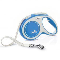 Flexi NEW COMFORT lesă M până 25kg, 5m cablu – albastru