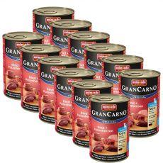 Conservă GranCarno Original Junior carne de vită și inimi de curcan - 12 x 400g