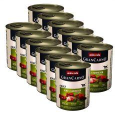 tin GranCarno Fleisch Adult Rabbit + Herbs - 12 x 800 g