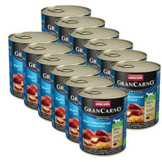 Conservă GranCarno Fleisch Adult smoked eel + potato - 12 x 800g
