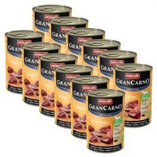 conservă GranCarno Fleisch Adult Vită + Curcan - 12 x 400 g