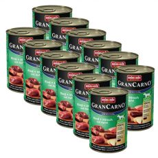 GranCarno Original Adult beef and deer with apple - 12 x 400g