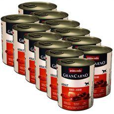Conservă GranCarno Original Adult  Vită + Pui - 12 x 800g