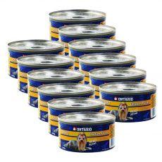Conservă ONTARIO Adult pentru câini, bucăți de pui + pipote., 12 x 200g