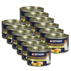 Conservă ONTARIO Miel cu cartofi dulci și ulei din semințe de in – 12 x 200g