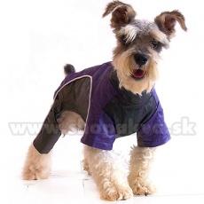 Overal pentru câine - lila-negru, XS