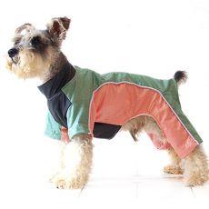 Overal pentru câine - verde-piersică, XS