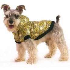 Jachetă pentru câini – în carouri, galbenă, XS