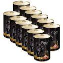Piper Adult conservă pentru câini cu inimă de pui și orez brun 12 x 400 g