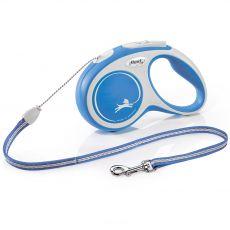 Flexi NEW COMFORT lesă S până la 12kg, 5m cablu – albastru