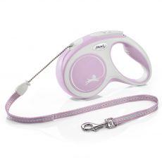 Flexi NEW COMFORT lesă M până la 20kg, 5m cablu – roz