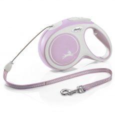 Flexi NEW COMFORT lesă M până la 20kg, 8m cablu – roz