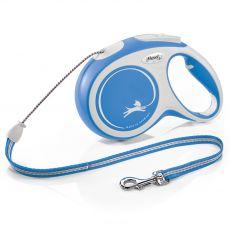 Flexi NEW COMFORT lesă M până la 20kg, 8m cablu – albastru
