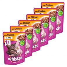 Whiskas pliculeț de pui în gelatină 6 x 100 g