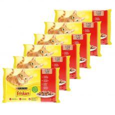 Friskies hrană pentru pisici la plic -  pui, vită, miel și rață în sos 6 x (4 x 85 g)