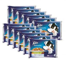 Hrană FELIX în pungă de aluminiu - pește cu legume în jeleu, 12 x 400 g