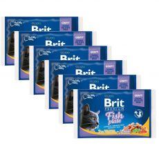 Pliculeț BRIT Premium Cat Fish Plate 6 x (4 x 100 g)