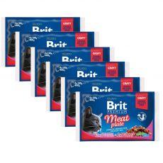 Pliculeț BRIT Premium Cat Meat Plate 6 x (4 x 100 g)