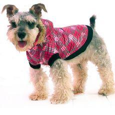 Jachetă câine – cu carouri, roz, XXL
