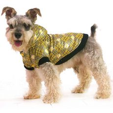 Jachetă câine – cu carouri, galben, L
