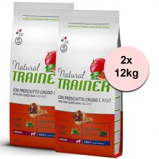 TRAINER Natural Medium Adult suncă uscată 2 x 12 kg