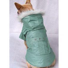 Haină câine cu un buzunar – verde, L
