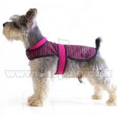 Vestă câine – roz și negru, XL