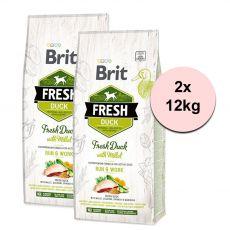 Brit Fresh Duck with Millet Adult Run & Work 2 x 12 kg