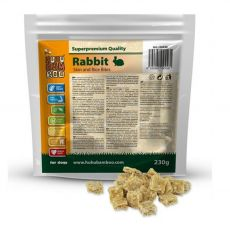HUHU Bamboo bucăți de piele de iepure cu orez 230 g