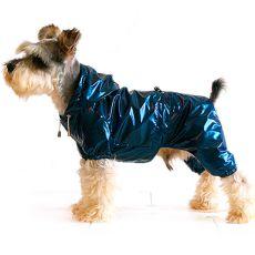Pelerină de ploaie pentru câine RibStop combinezon – albastru/negru, S