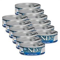 Farmina N&D cat Trout, Salmon & Shrimps can 12 x 80 g