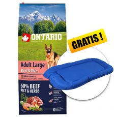 ONTARIO Adult Large Beef & Rice 12kg + CADOU