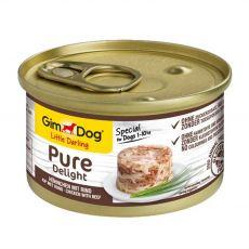 GimDog Pure Delight pui + vită 85 g