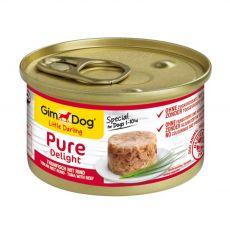 GimDog Pure Delight ton + vită 85 g
