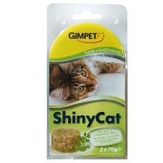 GimCat ShinyCat ton + iarba mâței 2 x 70 g