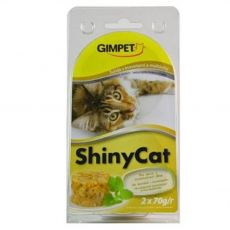 GimCat ShinyCat ton + creveți + malț 2 x 70 g