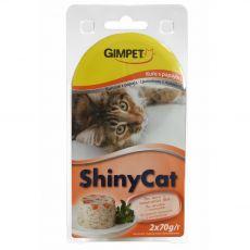 GimCat ShinyCat pui + papaya 2 x 70 g