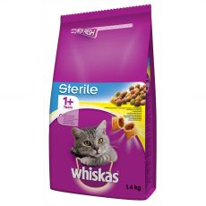 WHISKAS Sterile for cats 1,4 kg