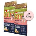 ONTARIO Puppy & Junior Large - chicken & potatoes 2 x 12 kg