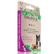 BIOGANCE Biospotix Dog spot-on S-M cu efect repelent 5 x 1 ml (up to 20 kg)