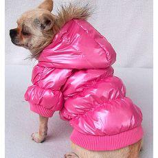 Jachetă joasă pentru câine – roz, XL