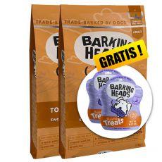 Barking Heads Top Dog Turkey Grain Free 2 x 12 kg  + CADOU