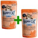 Pliculeț Happy Cat ALL MEAT Adult Turkey & Pollack 85 g 1+1 CADOU