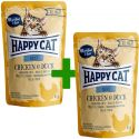 Happy Cat ALL MEAT Adult hrană la plic Chicken & Duck 85 g 1+1 CADOU