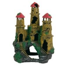 Decoraţiune pentru acvariu- Castel în ruine pe deal